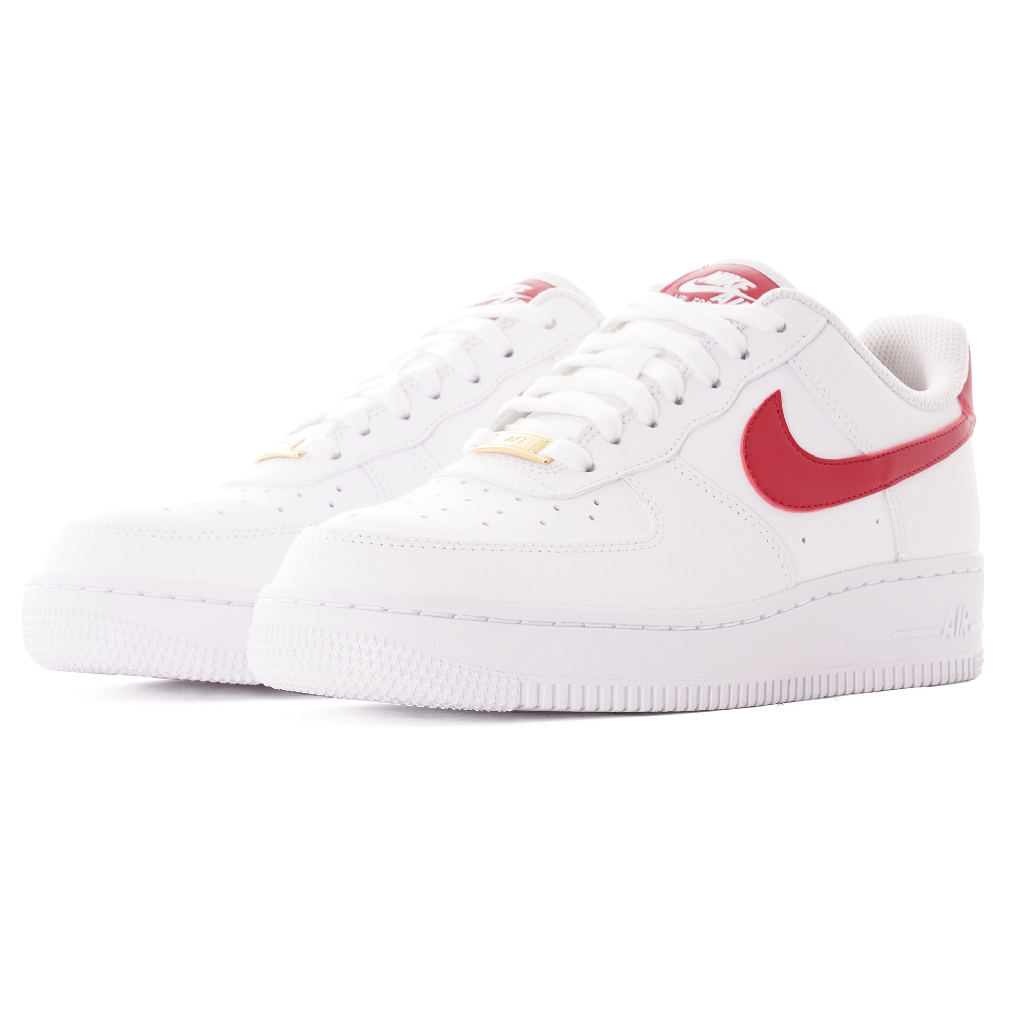 nike air force 1 womens white and red