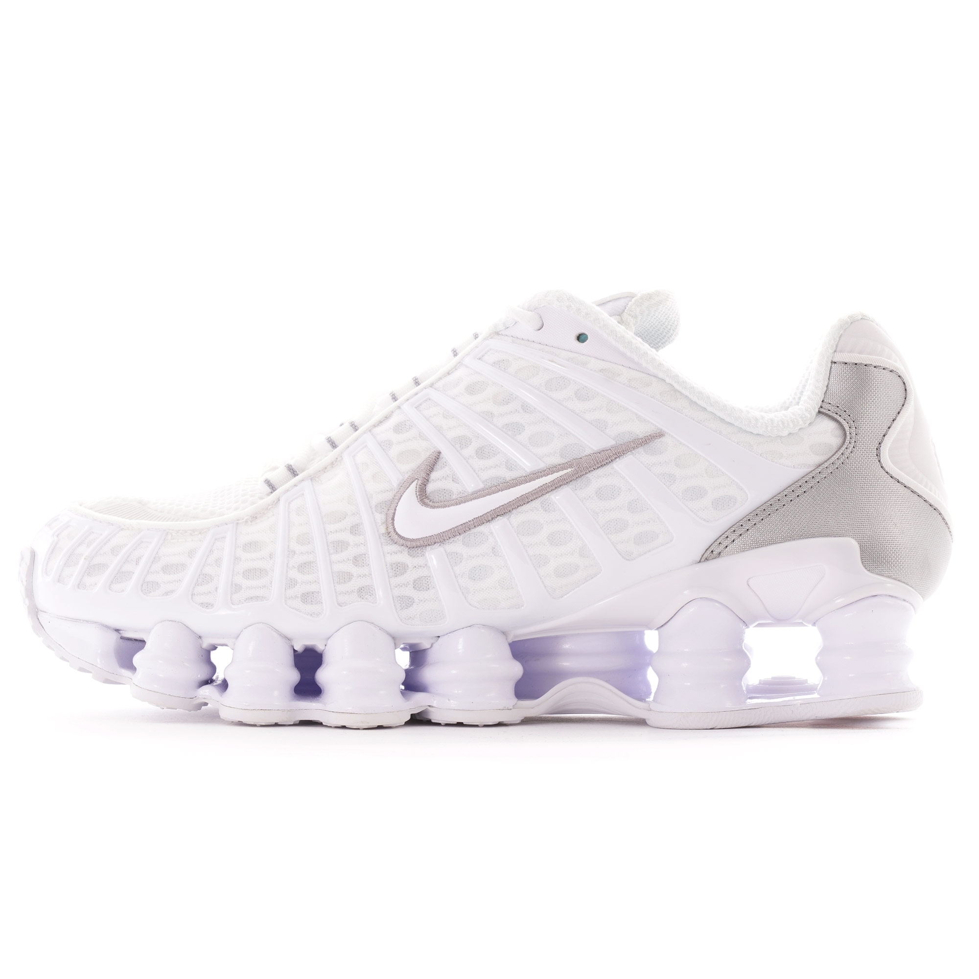 Nike Shox TL   White and Silver