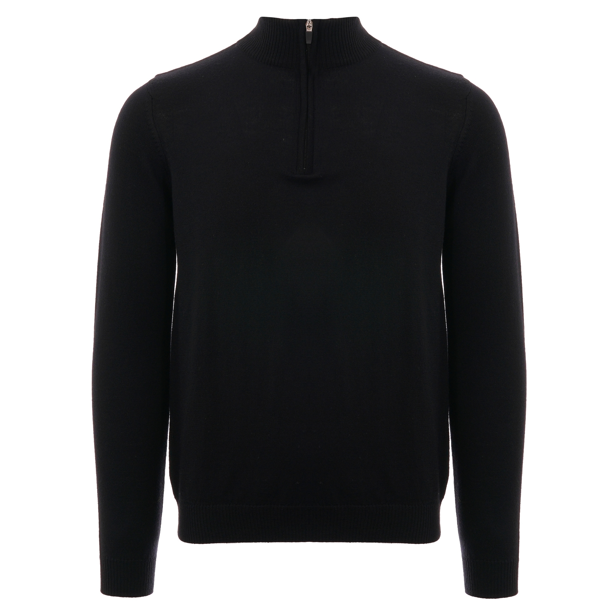 Image of 1/4 Zip Jumper - Black