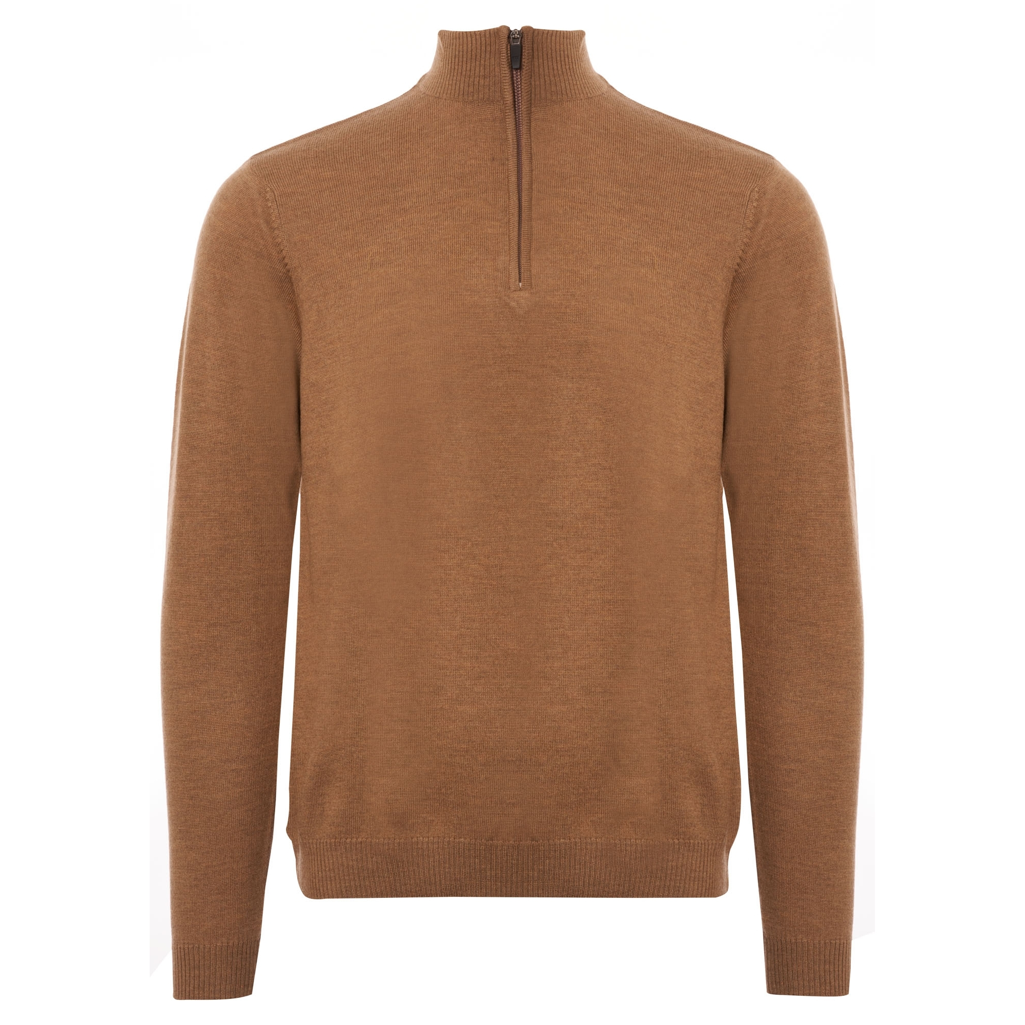 Image of 1/4 Zip Jumper - Camel
