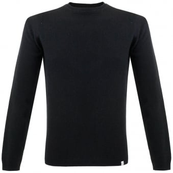 Norse Projects Sigfred Lambswool Black Jumper N45-0227