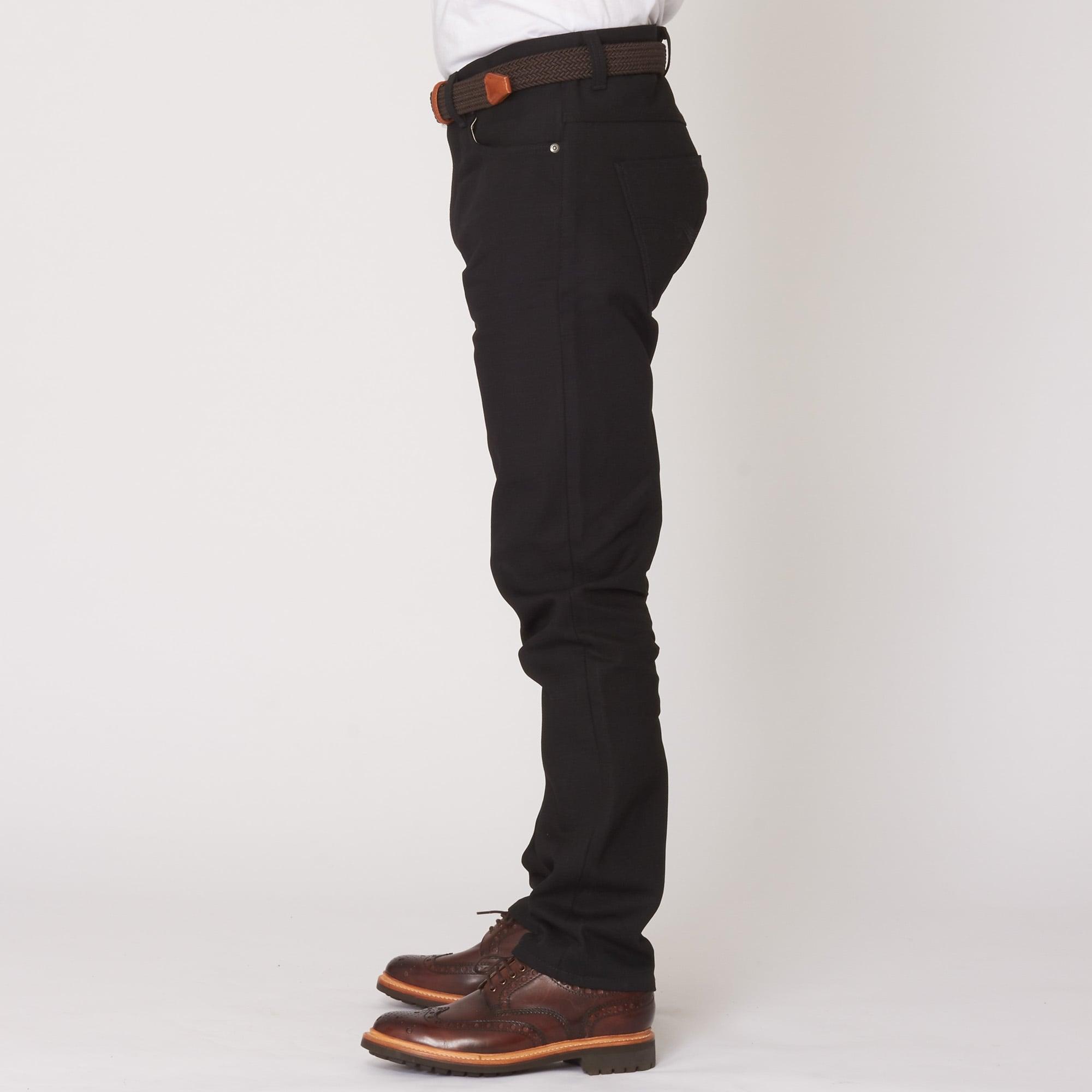 62716b19 Nudie Jeans Fearless Freddie Black Straight Fit Jeans   112458