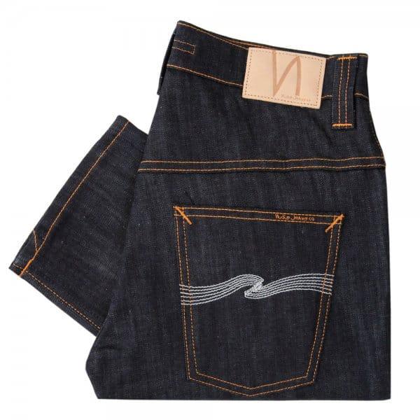 nudie jeans online thin finn organic dry ecru emb jeans. Black Bedroom Furniture Sets. Home Design Ideas