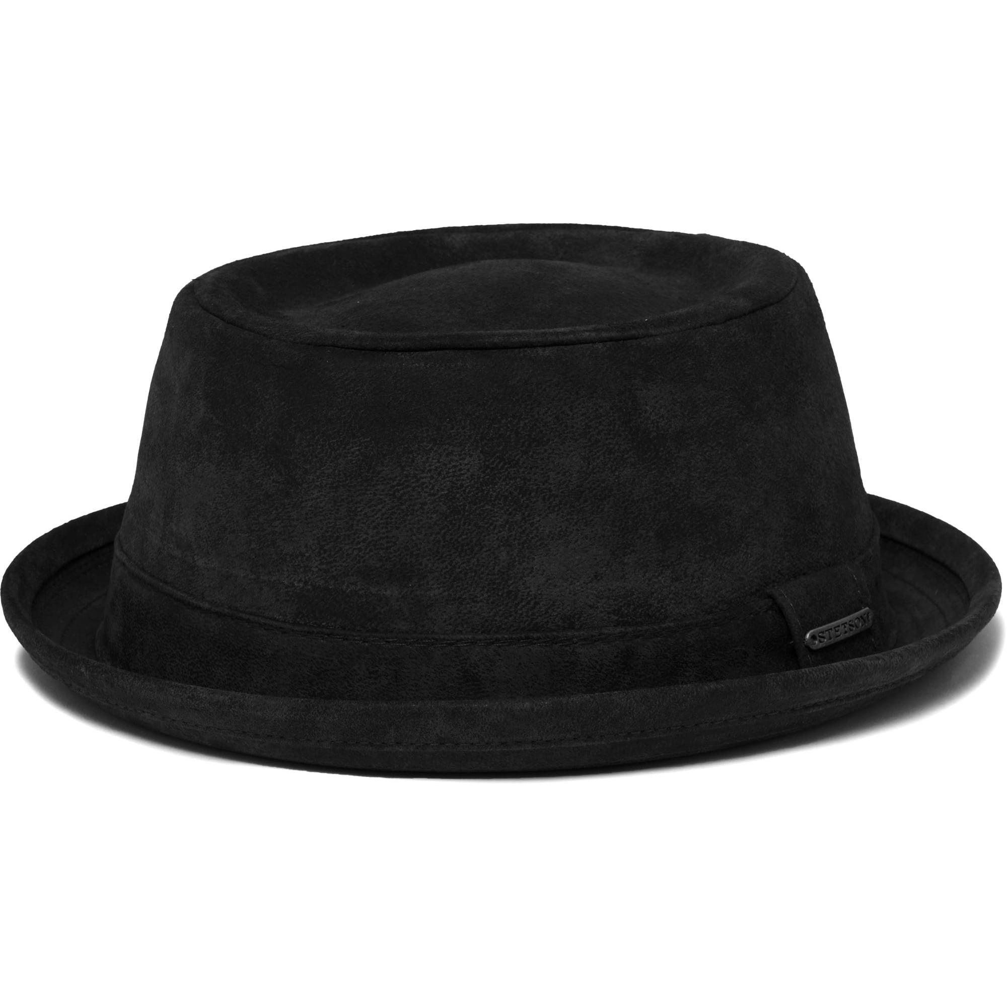 Stetson Black Odenton Pork Pie Cloth Hat 35278  24e94596203