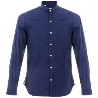 Oliver Spencer Eton Navy Shirt OSS69B