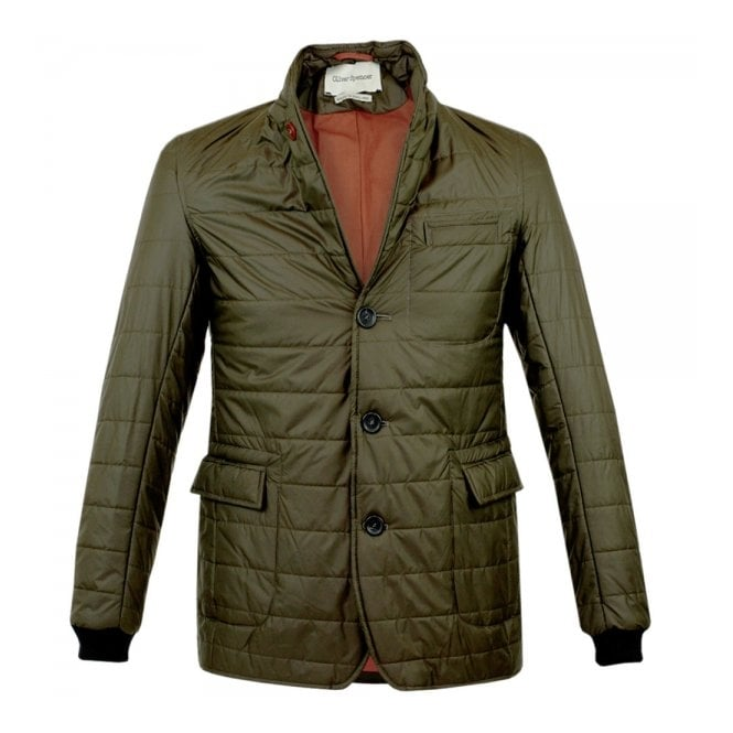 Oliver Spencer Lanark Green Quilt Jacket OSJ258