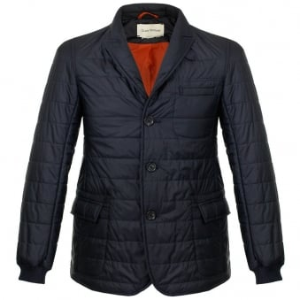 Oliver Spencer Lanark Quilted Navy Jacket OSJ258
