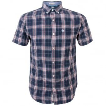 Original Penguin Check Dress Blue Shirt OPWS5179