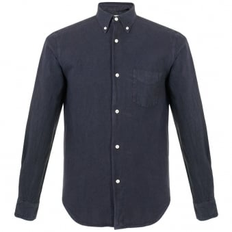 Our Legacy 1950s Navy Oxford Shirt 215350