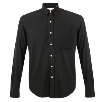 Our Legacy Black Silk Classic Shirt 2153CSBSEM