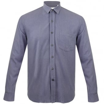 Our Legacy Classic Denim Blue Silk Shirt 2153CDBS