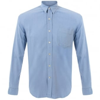 Our Legacy Classic Light Blue Silk Shirt 1153CSLBS