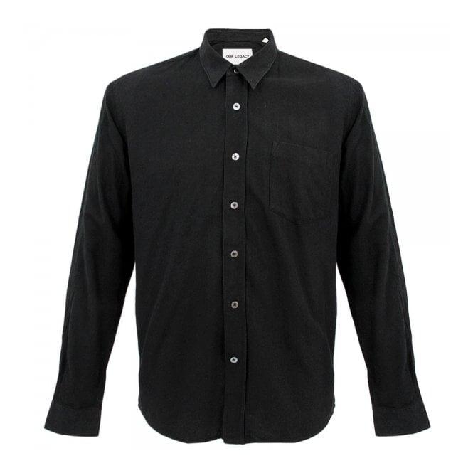 4ef36693dd42c Our Legacy Classic Shirt Black Raw Silk 2143CSBRS