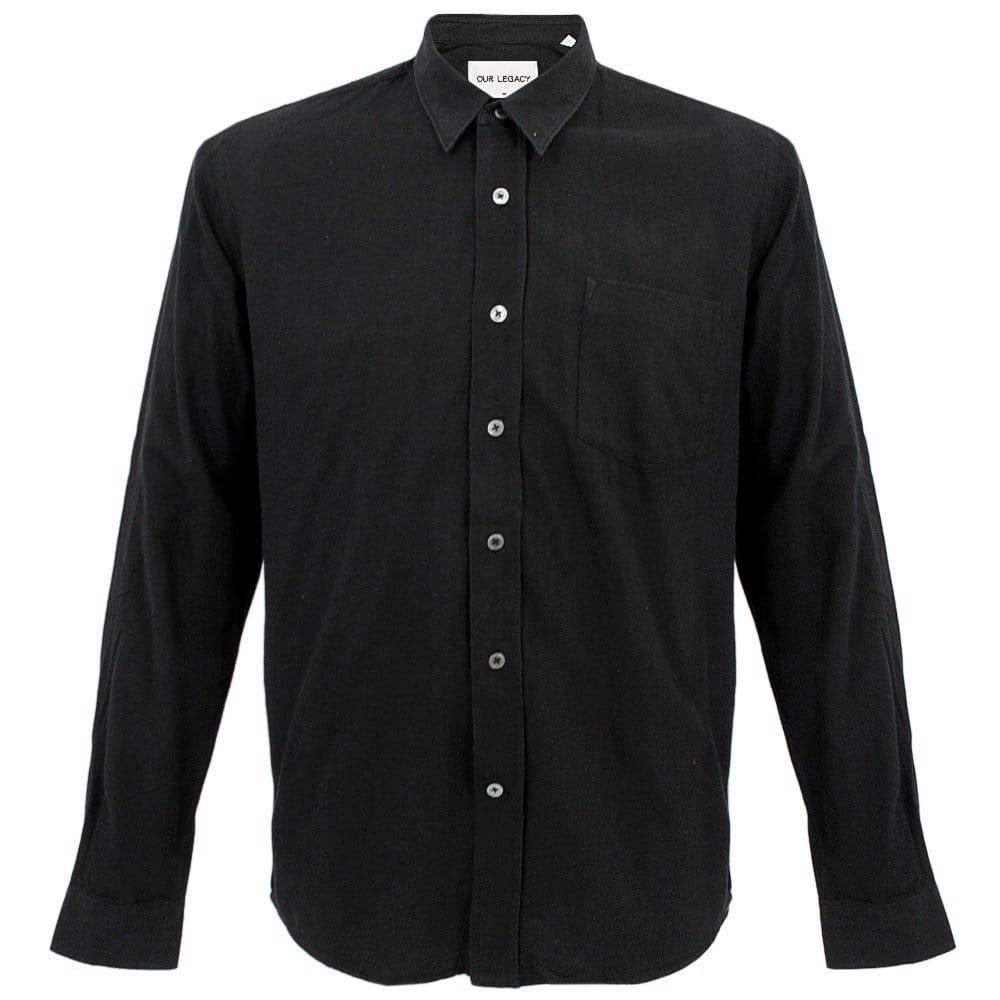 Our legacy classic shirt black raw silk 2143csbrs for Our legacy silk shirt