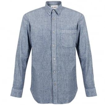 Our Legacy Coated White Chambray Generation Shirt 1153GSCWC