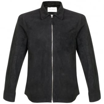 Our Legacy Suede Zip Black Shirt 21515SZSB
