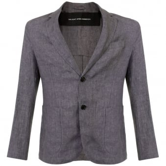 Our Legacy Unconstructed Charcoal Linen Blazer 11512BUCL
