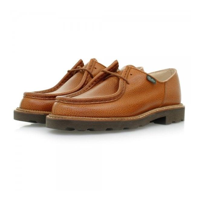 best sneakers fe24a 2990d Paraboot Michael Marche Tan Grain Scotch Leather Shoes 157722