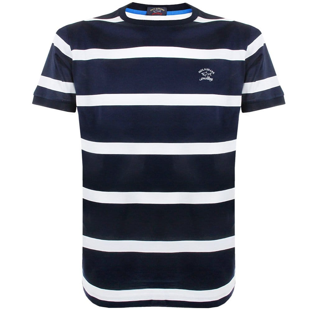 paul and shark clothing striped navy white tshirt. Black Bedroom Furniture Sets. Home Design Ideas