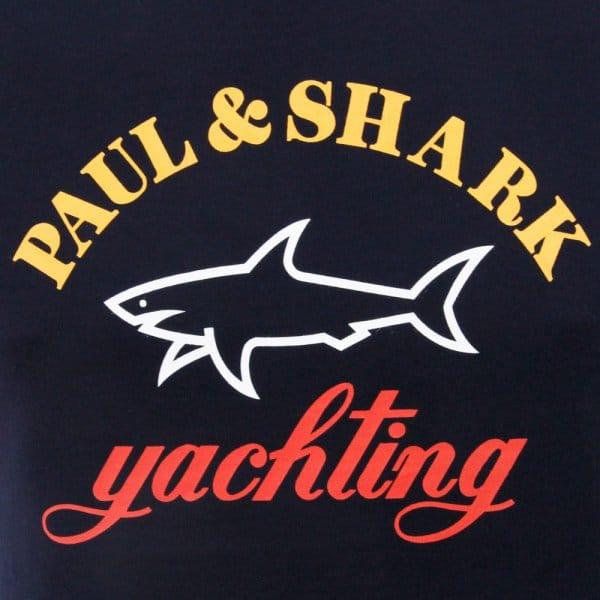 0171fa298a42 Paul And Shark Clothing | Logo Dark Navy T-Shirt