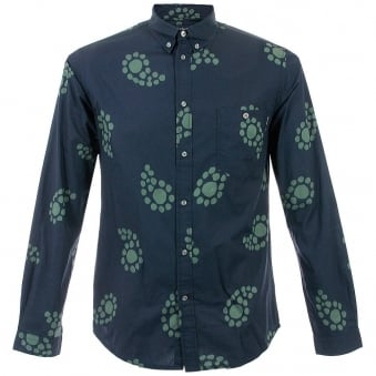 Paul Smith Jeans Navy Paisley Large Print Shirt JLFJ-054N-521