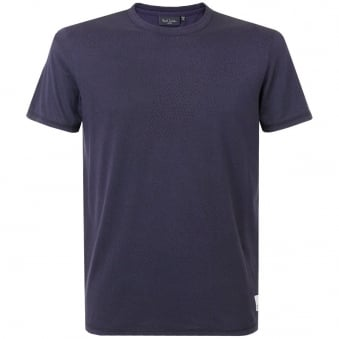 Paul Smith Printed Short Sleeve Navy T-Shirt JNFJ-171P-B52