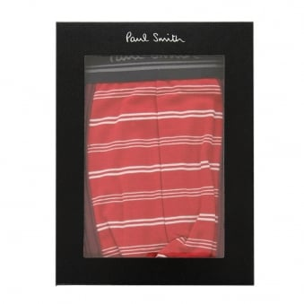 Paul Smith Red And White Varied Stripe Low-Rise Boxer Briefs