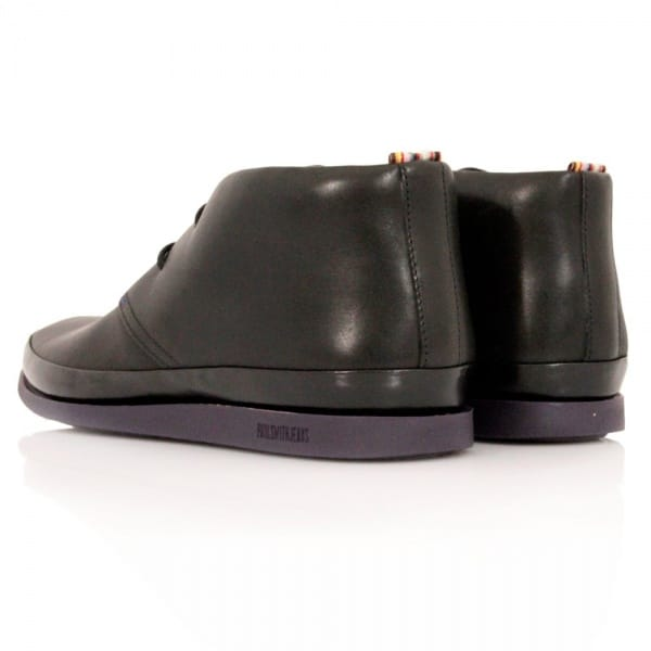 paul smith loomis black city calf leather chukka boot