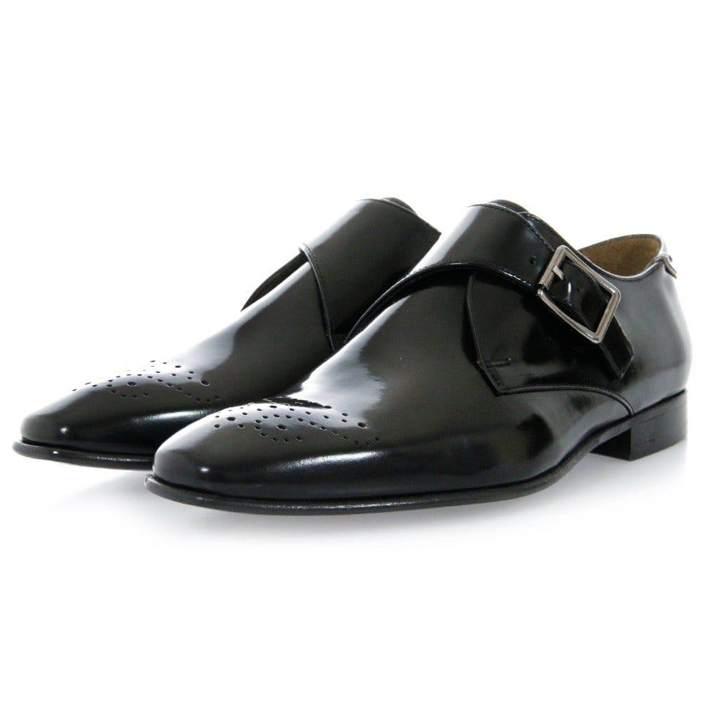paul smith shoes wren black high shine leather shoe