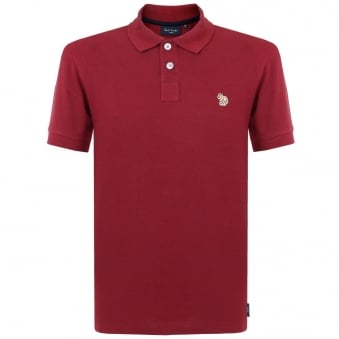 Paul Smith Zebra Logo Burgundy Polo Shirt JNFJ-183K-B46Z