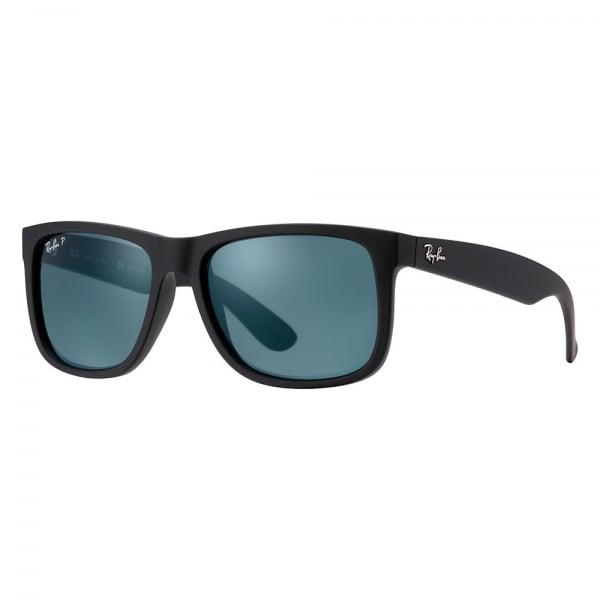 Image of Black Justin Classic Sunglasses - Polarised Blue Classic Lenses