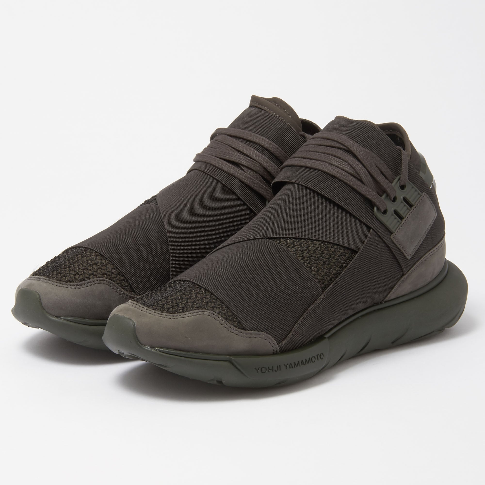 Adidas Y-3 Qasa High Black Olive Sneakers CG3194  48aa4f6d6