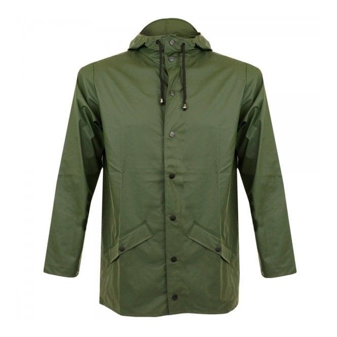 release date: buy good limited guantity Rains Rains Green Waterproof Jacket 1201 03