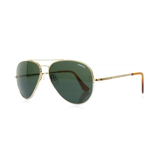 c6e8d494a61dd Randolph Concorde Gold Skull Sunglasses CR71414