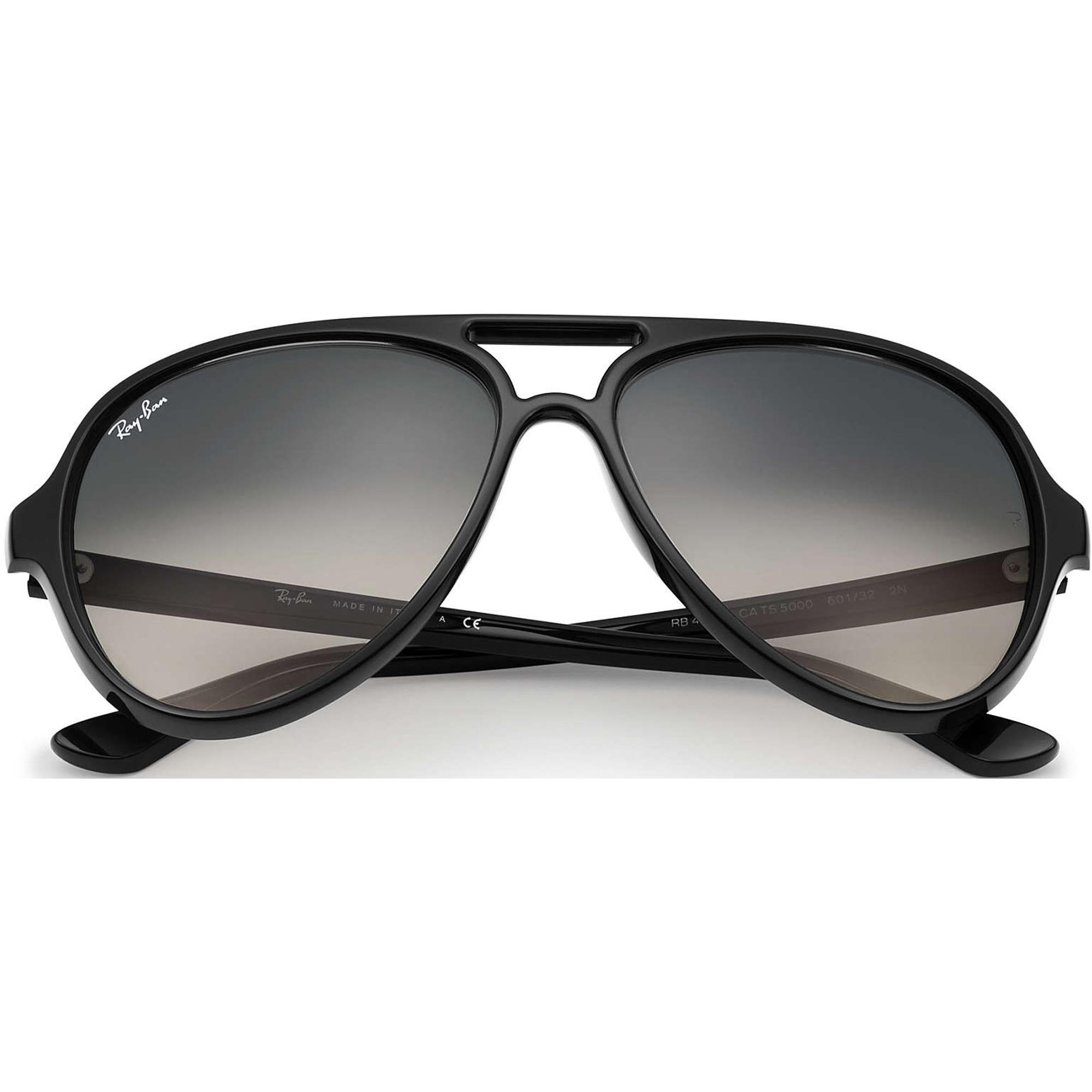 1c7085692 Ray Ban Sunglasses Cats 5000 Black Crystal Sunglasses RB4125 601/32