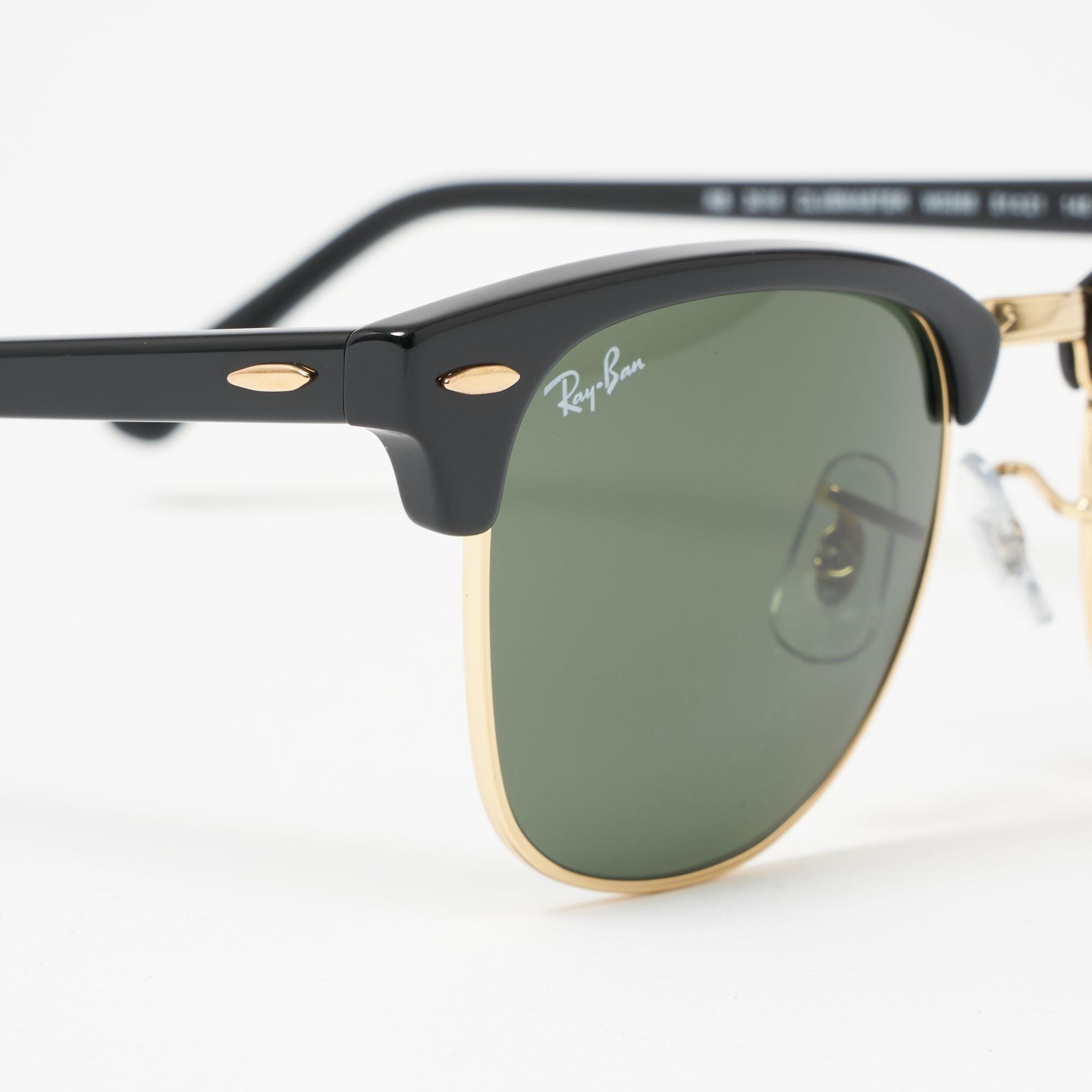 6c59842ec Black Clubround Classic Sunglasses - Green Classic G-15 Lenses