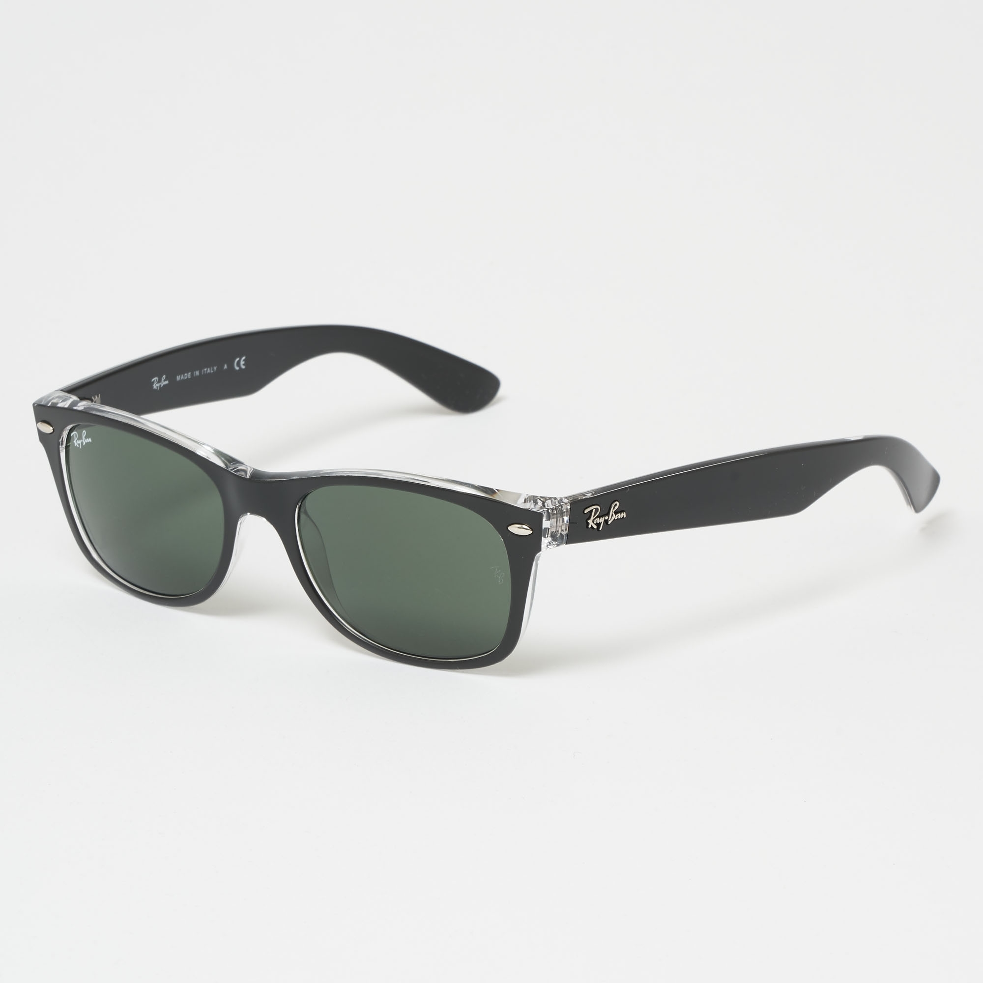 947d62a344dd9 Ray Ban New Wayfarer Colour Mix Black Sunglasses 52-145 0RB2132-6052