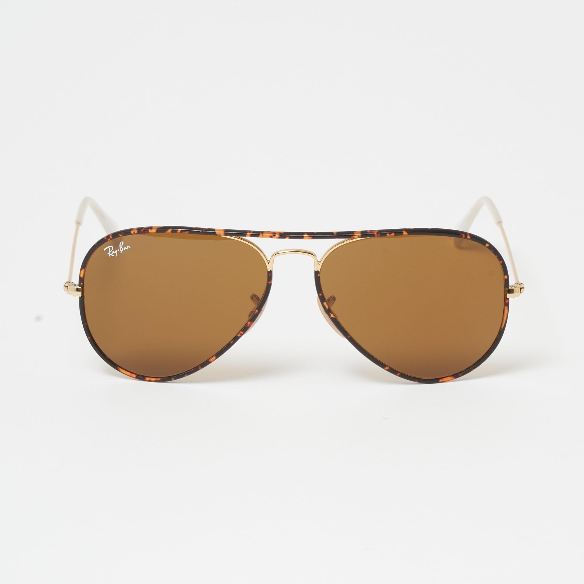 ce4199c562a39 Tortoise Aviator Full Colour Sunglasses - Brown Classic B-15 Lenses
