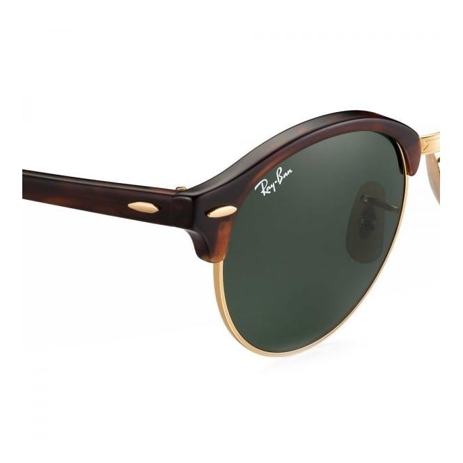f436bef9e1 Tortoise Clubround Classic Sunglasses - Green Classic G-15 Lenses