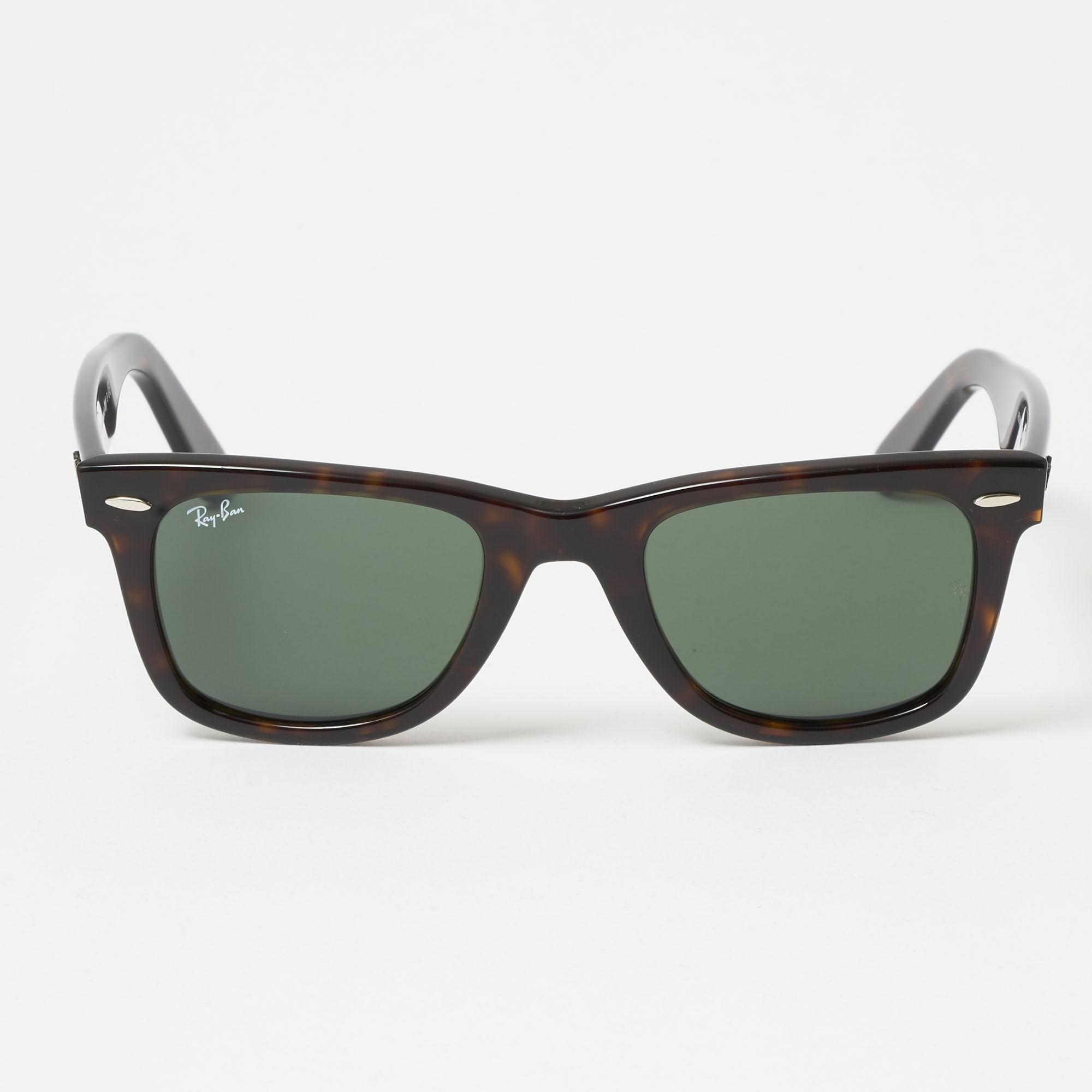 e43271679de08 Tortoise Original Wayfarer Classic Sunglasses - Green Classic G-15 Lenses