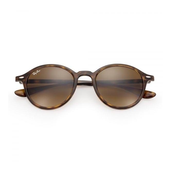 594928d31ff Tortoise Round Liteforce Sunglasses - Brown Gradient Lenses
