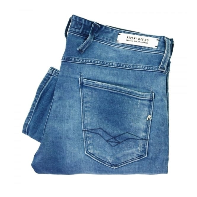 Replay Jeans Replay Anbass Blue Denim Jeans M914 000 09B 752