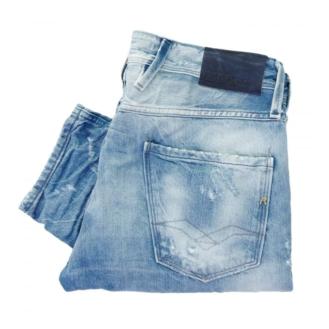 Replay Jeans Replay Anbass Bright Blue Denim Jeans M914.000 24B 717