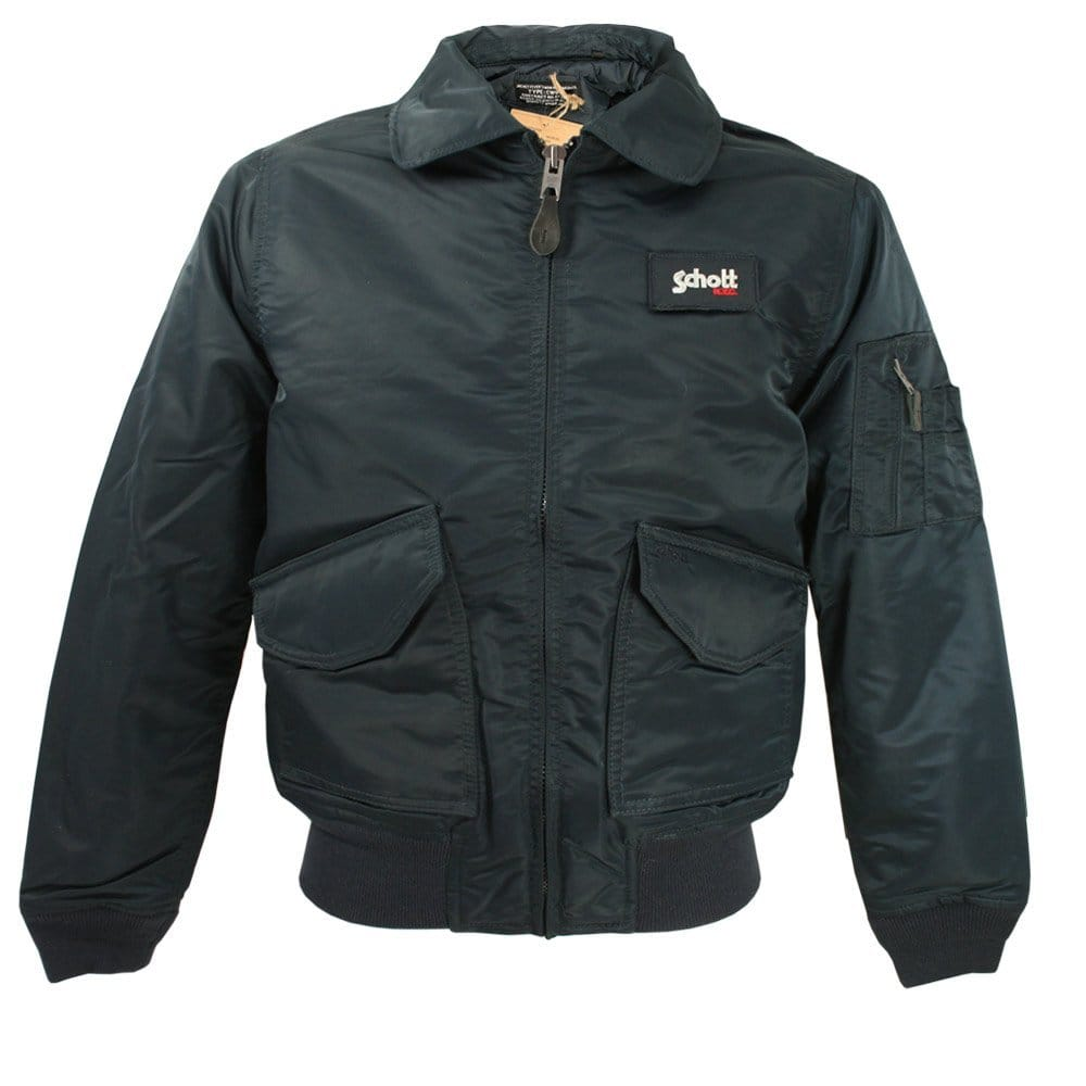 schott nyc bomber jacket cwu r navy 21031