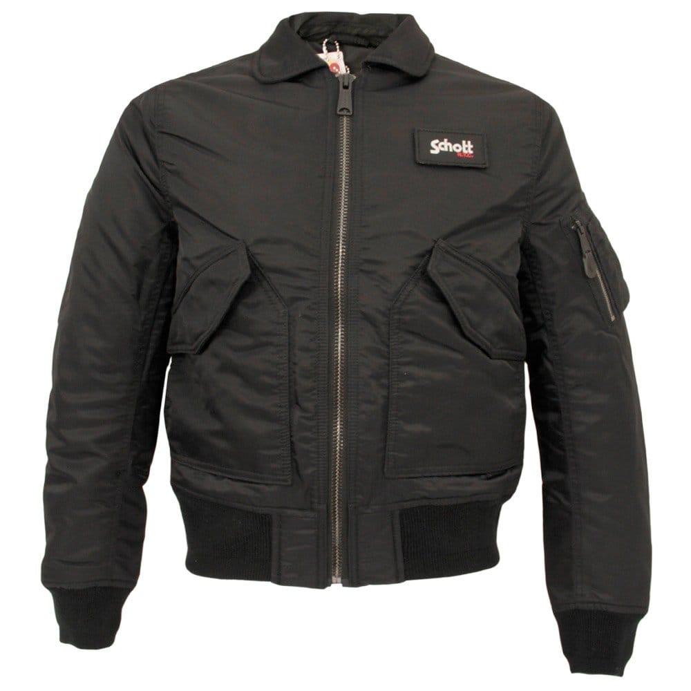 schott jacket online bomber jacket cwu r black 21031. Black Bedroom Furniture Sets. Home Design Ideas