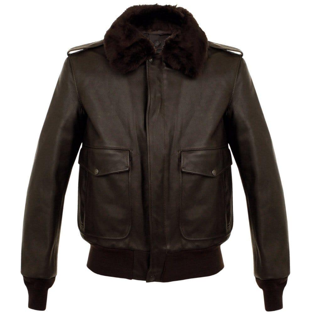 schott nyc a 2 naked cowhide brown leather flight jacket. Black Bedroom Furniture Sets. Home Design Ideas