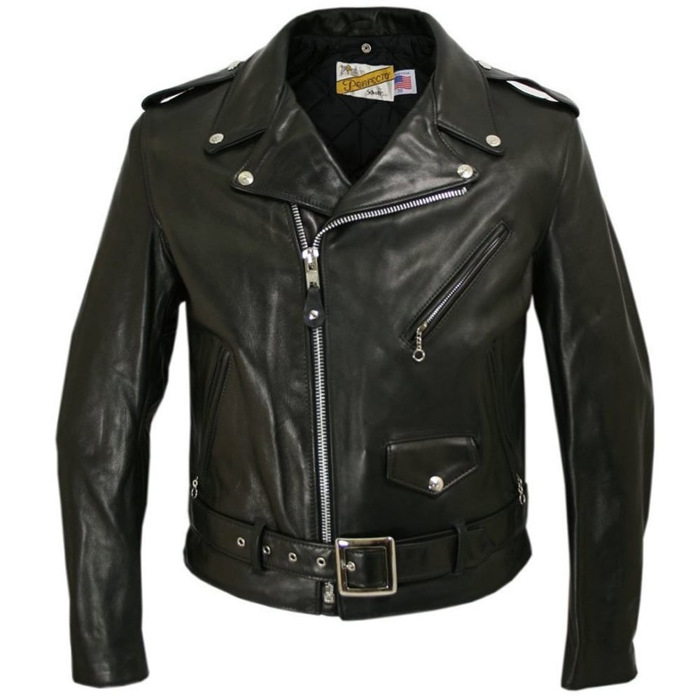 5c09359d1cc Schott NYC Classic Perfecto 118 Leather Motorcycle Jacket