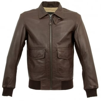 Schott NYC LC3136 Pilote Brown Leather Jacket
