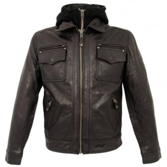 Schott NYC LC8102 Dark Brown Police Jacket