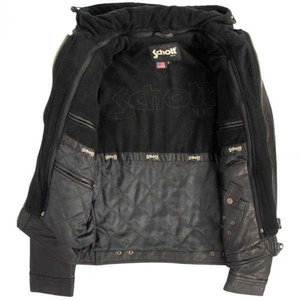 schott+leather+police+jacket